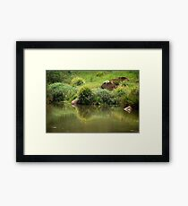 Lush Green - Manning River NSW Framed Print