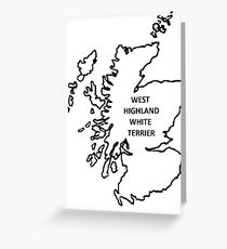 west highland white terrier origin outline Greeting Card