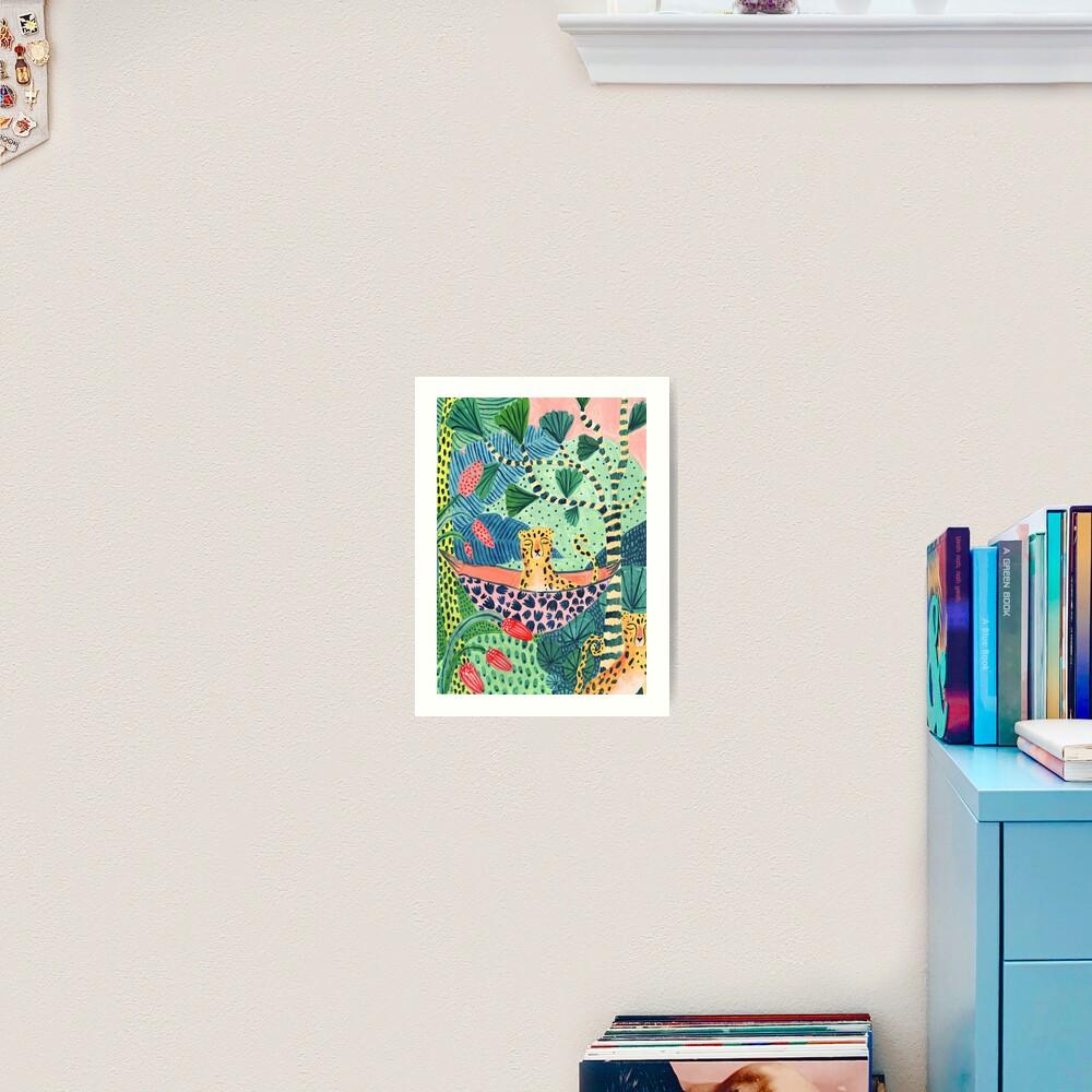 Jungle Leopard Family! Art Print