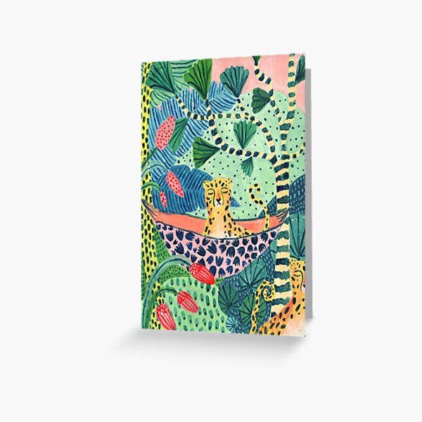 Jungle Leopard Family! Greeting Card