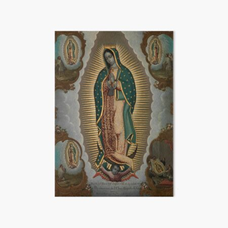 Nicolas Enrquez The Virgin of Guadalupe with the Four Apparitions Art Board Print