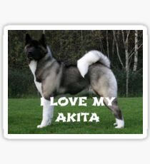 akita pinto black mask full love with picture Sticker