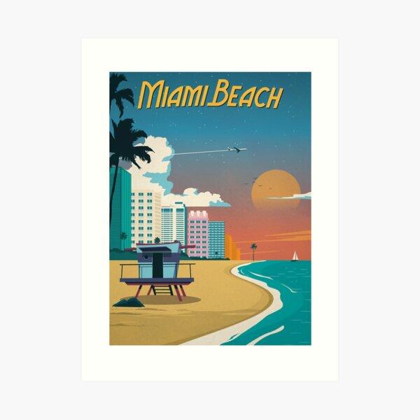 Vintage Miami Beach Poster Art Print