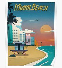 Vintage Miami Beach Poster Poster