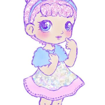 Cute Kawaii Crystal Queen L.O.L. Surprise Doll Art by BonBonBunny