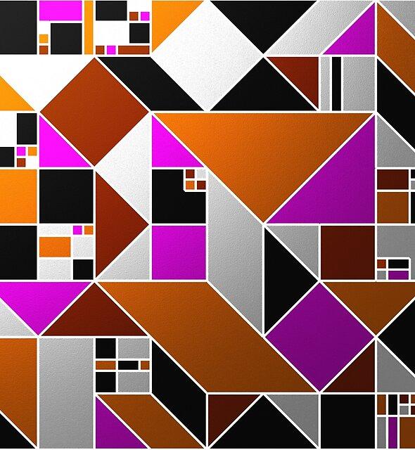 Metallic Mosaic by Printpix