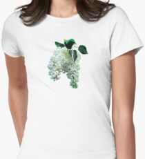 White Lilacs Womens Fitted T-Shirt