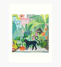 Dschungel Panther Kunstdruck