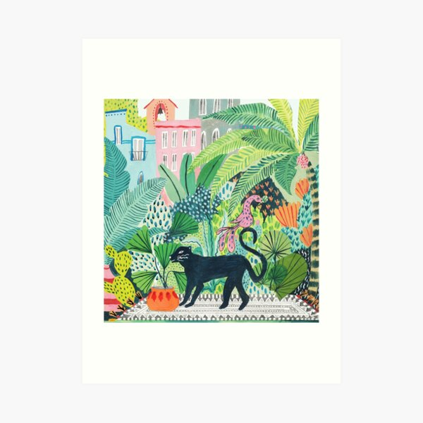 Jungle Panther  Art Print