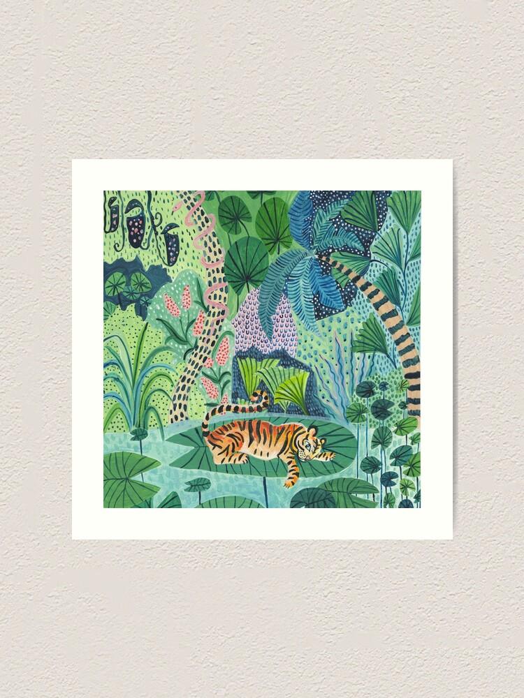 Alternate view of Jungle Tiger Art Print