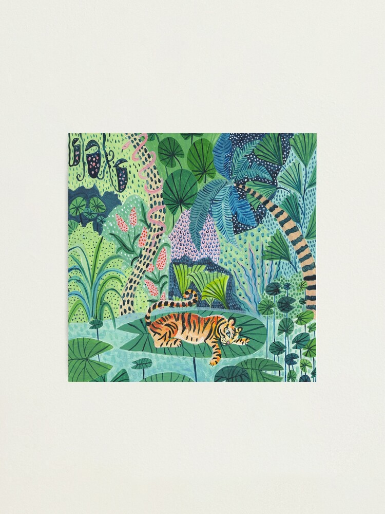 Alternate view of Jungle Tiger Photographic Print