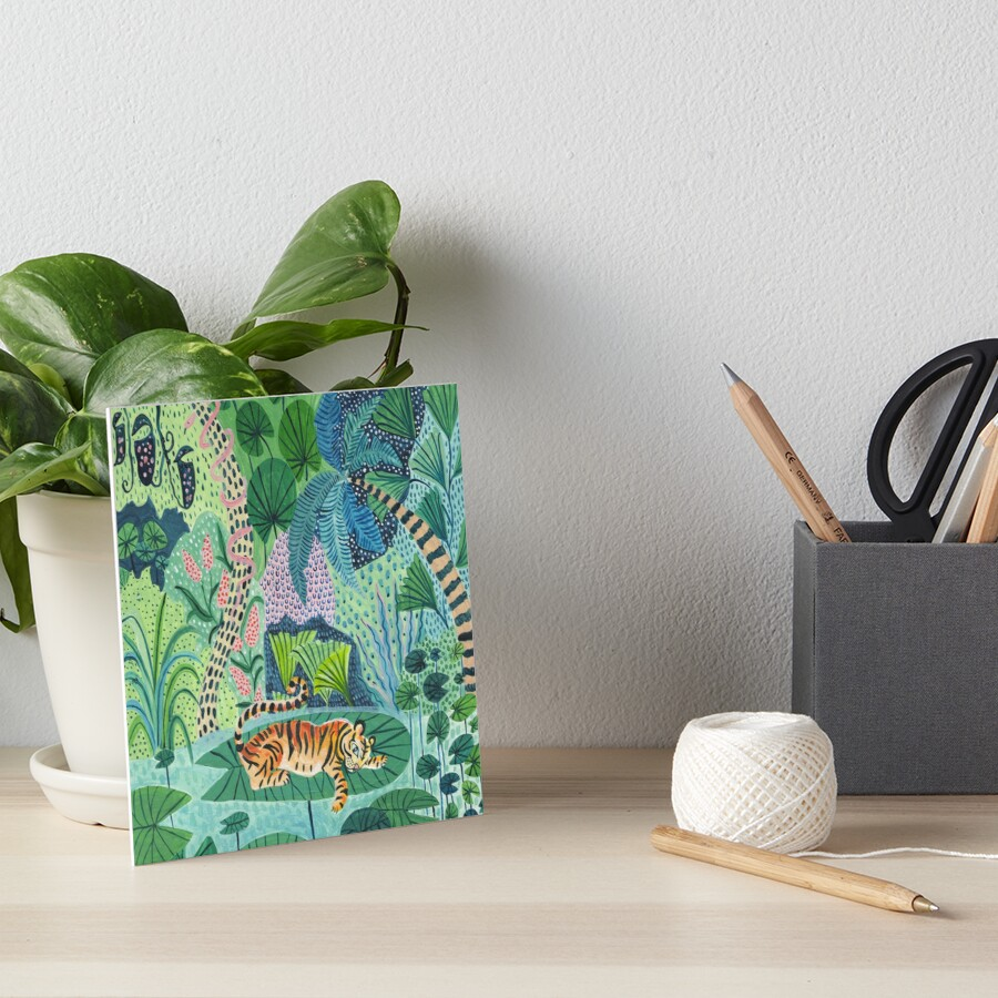 Jungle Tiger Art Board Print