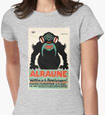 1918 Alraune Hungarian Horror Film Movie Poster Women's Fitted T-Shirt