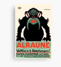 1918 Alraune Hungarian Horror Film Movie Poster Canvas Print
