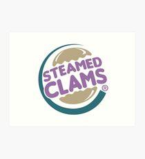 Steamed Clams Art Print