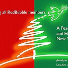 Christmas greetings to RedBubble family by amulya