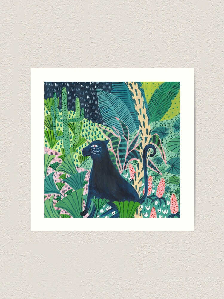 Alternate view of Jungle Jaguar  Art Print