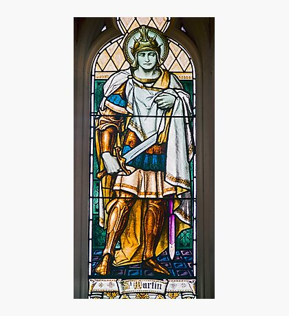 Stained Glass Window of St Martin, St Davids Cathedral, Hobart Photographic Print