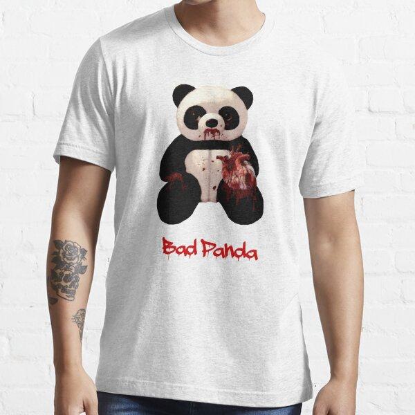 Bad Panda Funny Dark humor panda eating a heart t shirt Essential T-Shirt