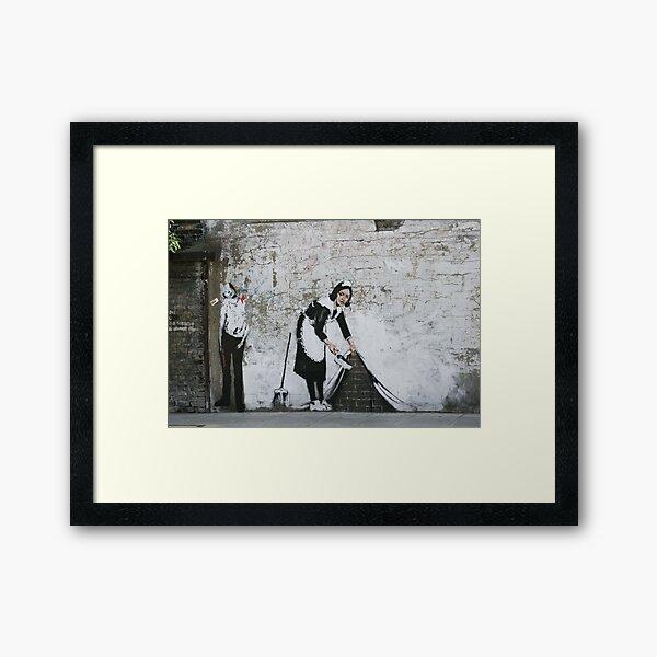 Sweep it under the Carpet, Banksy  Framed Art Print
