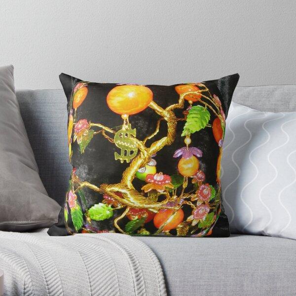 Feng Shui money tree. Throw Pillow