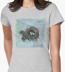 Bird Nest Womens Fitted T-Shirt