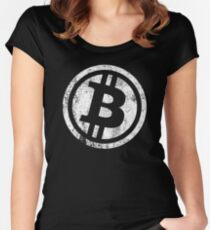BITCOIN VINTAGE CRYPTO  Women's Fitted Scoop T-Shirt