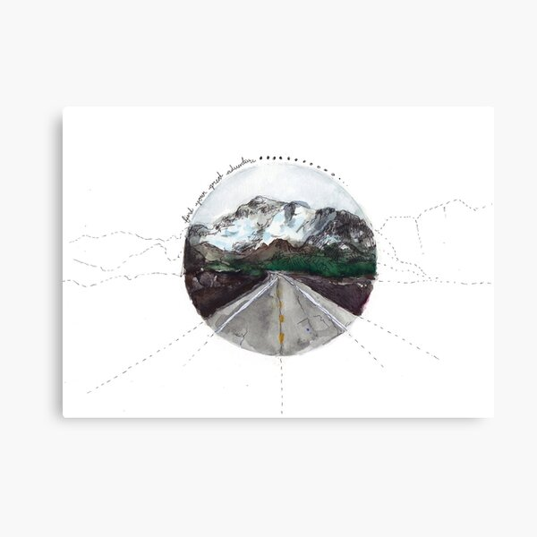 find your great adventure Canvas Print
