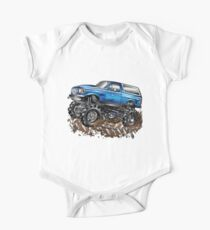 Mud Truck Mega Blue Bogging One Piece - Short Sleeve
