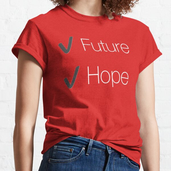 Future and Hope in white and coral Classic T-Shirt