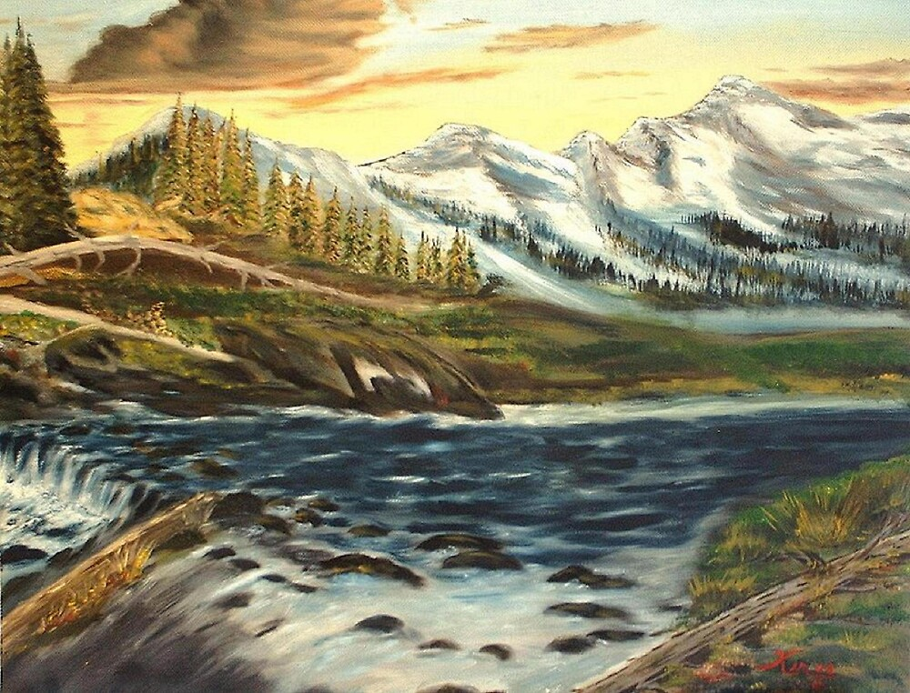 Mountain River by KenLePoidevin