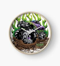 Mud Truck Green Mega Flame Clock