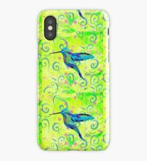 Hummingbird and Swirls iPhone Case