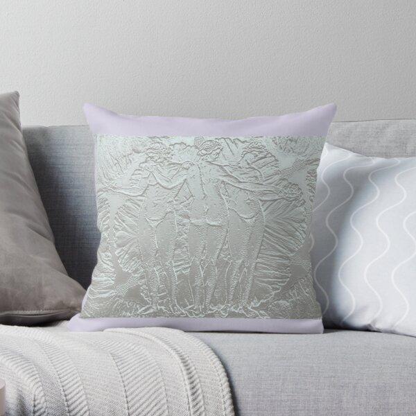 Three graces in white. Throw Pillow