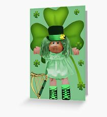 CABBAGE PATCH DOLL GOES IRISH Greeting Card