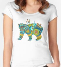 Polar Bear, cool art from the AlphaPod Collection Women's Fitted Scoop T-Shirt
