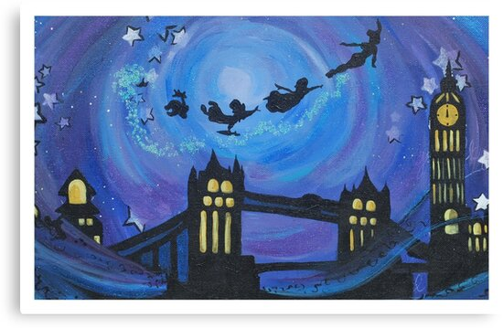 First Star On The Right Straight On Til Morning Canvas Prints By