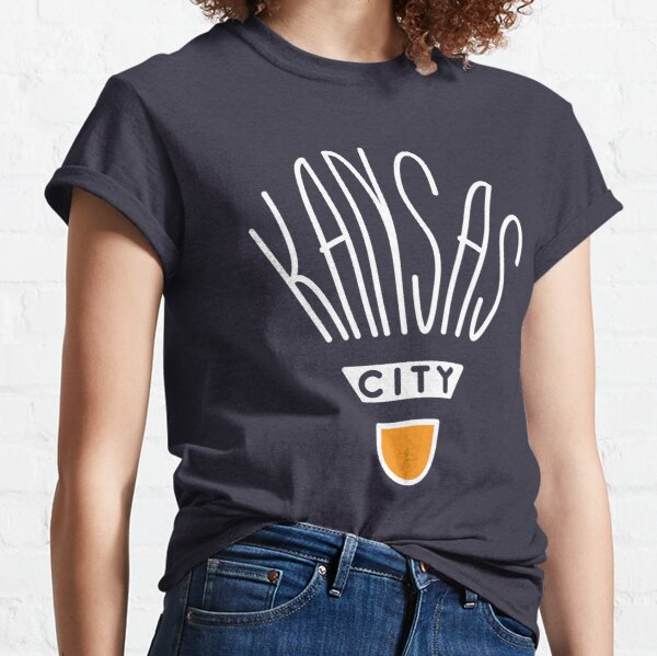 Kansas City Shuttlecock Type - White Classic T-Shirt