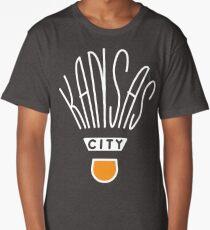 Kansas City Shuttlecock Type - White Long T-Shirt