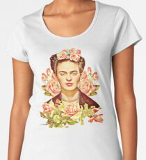 Kahlo Premium Rundhals-Shirt