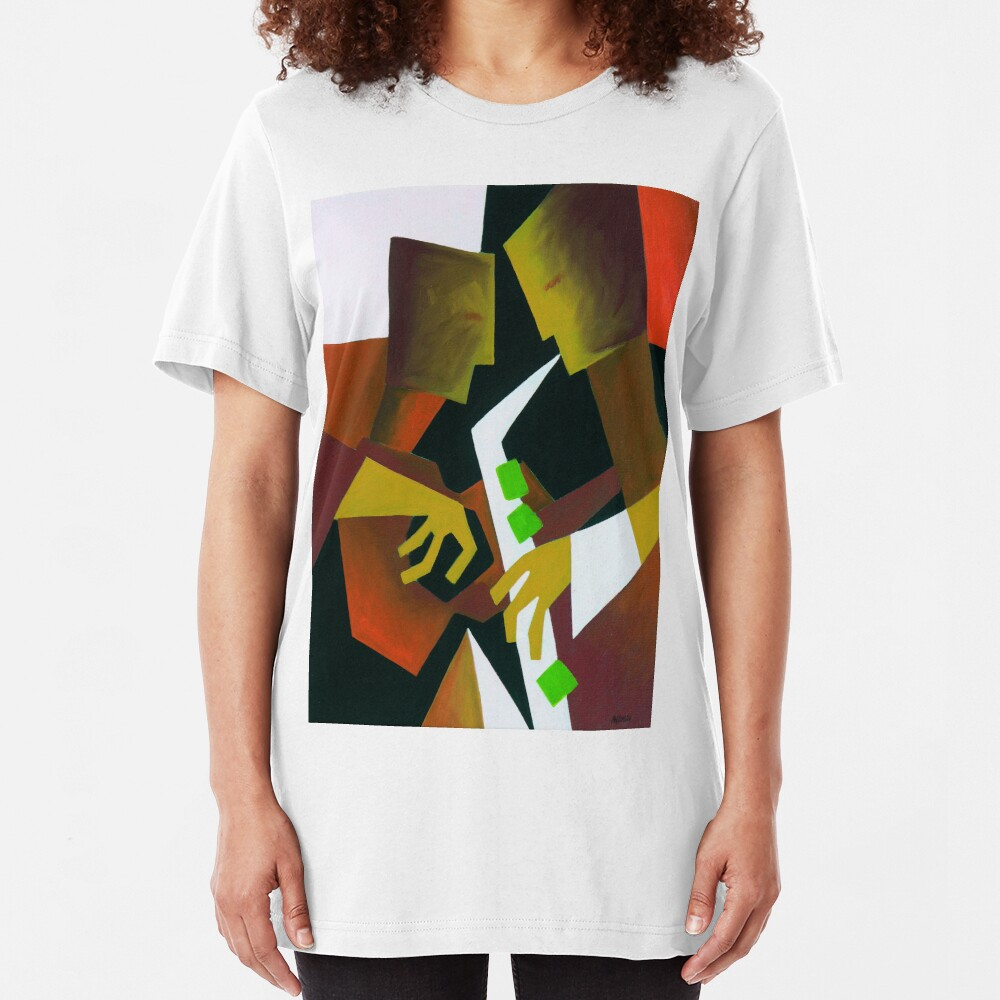 CHASIN' THE BIRD, BARNEY KESSEL AND CHARLIE PARKER Slim Fit T-Shirt