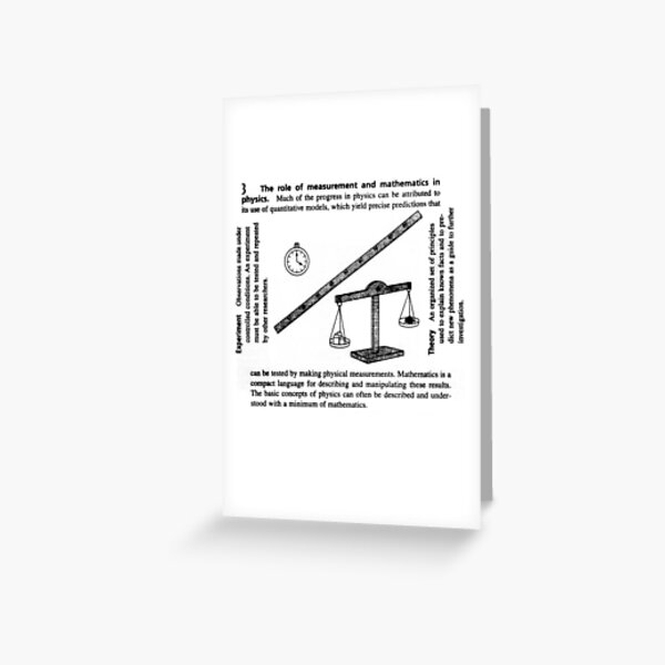 General Physics, PHY 110 Greeting Card