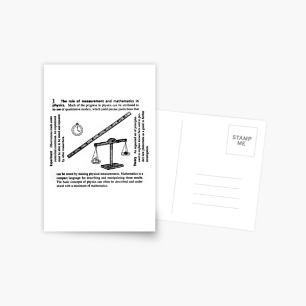 General Physics, PHY 110 Postcard
