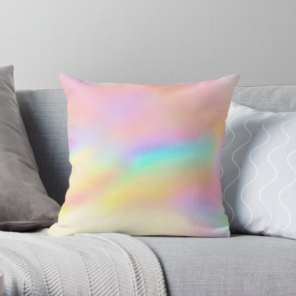 Iridescent Aesthetic Color Throw Pillow