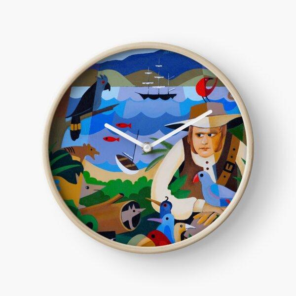 CHARLES DARWIN IN HOBART 1836 Clock