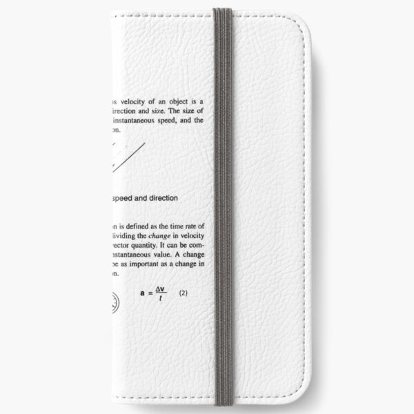 Physics Prints, General Physics, PHY 110 iPhone Wallet