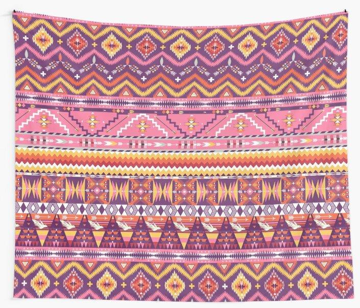 warm sunshine aztec pattern  by Yanwun