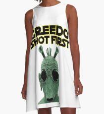 GREEDO SHOT FIRST A-Line Dress