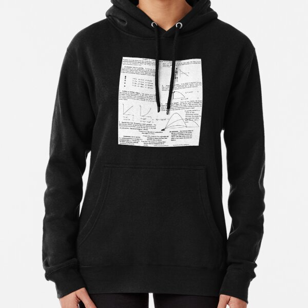Physics Prints, General Physics, PHY 110. Chapter 3. Falling Objects and Projectile Motion Pullover Hoodie