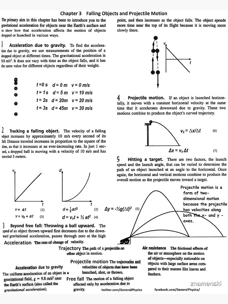General Physics, PHY 110. Chapter 3. Falling Objects and Projectile Motion by znamenski